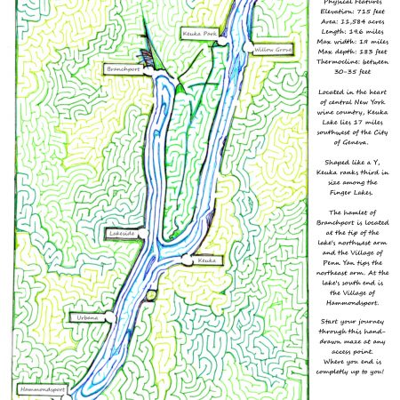 Free Printable Hand Drawn Finger Lake Maze. Easily downloadable and printable PDF format. Great Mazes for both kids & adults very challenging but fun.