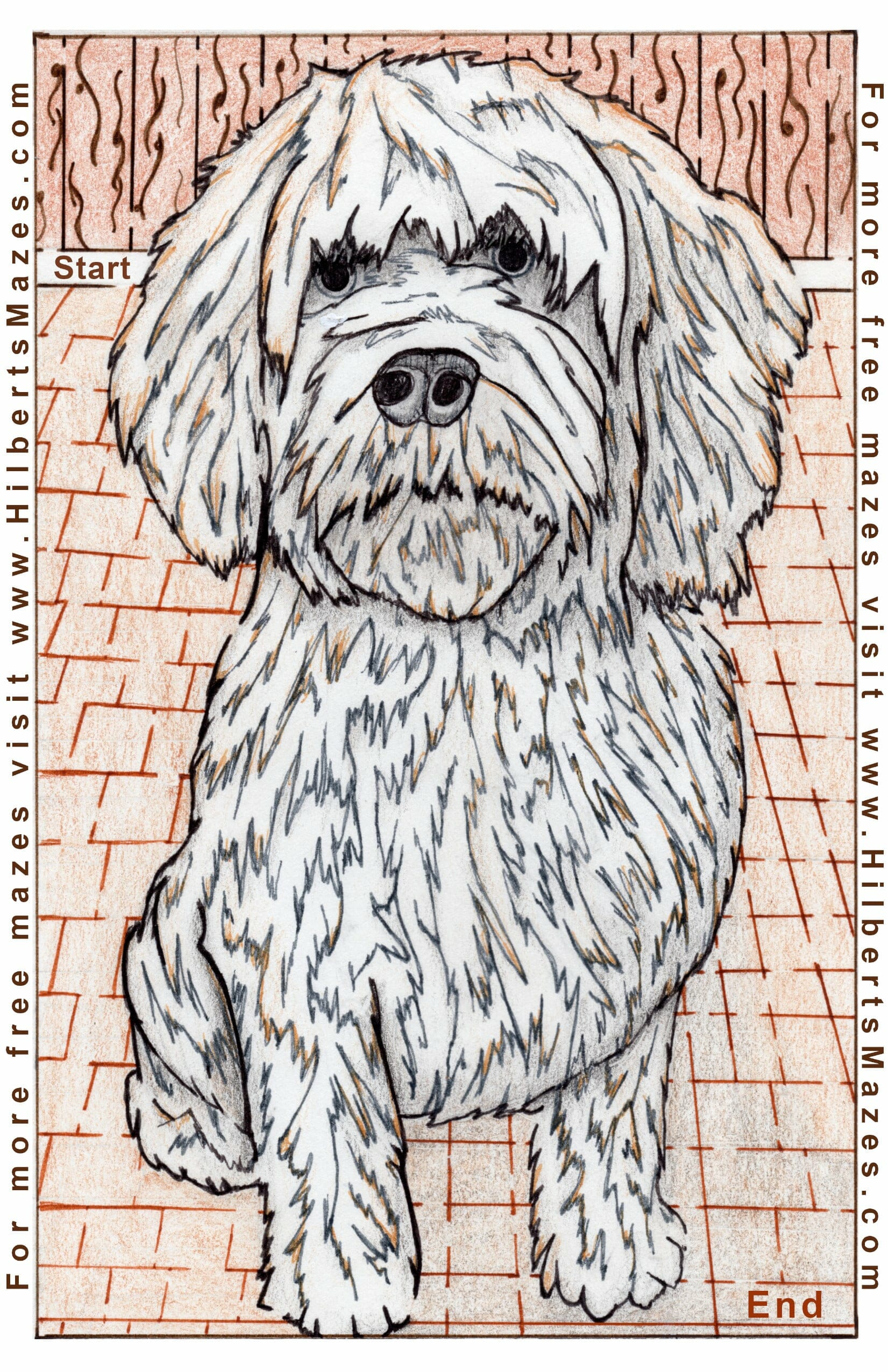 Free Printable Hand Drawn Dog Maze and Word Puzzle. Easily downloadable free printable PDF format. Great Mazes and Games for both kids & adults very challenging but fun.